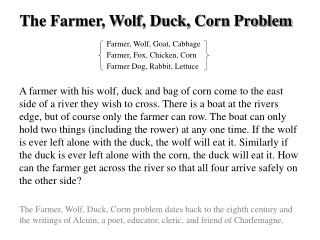 Farmer, Wolf, Goat, Cabbage Farmer, Fox, Chicken, Corn Farmer Dog, Rabbit, Lettuce