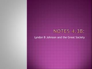 Notes 4.3B: