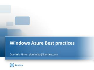 Windows Azure  Best  practices