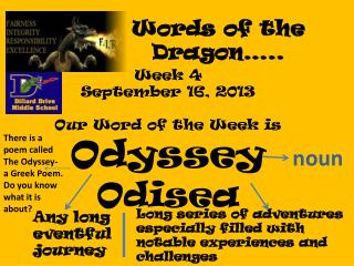 Words of the Dragon…..