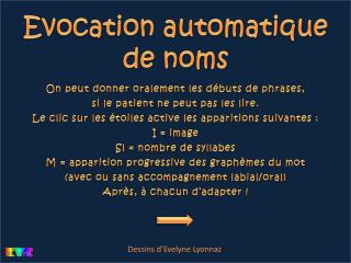 Evocation automatique de noms
