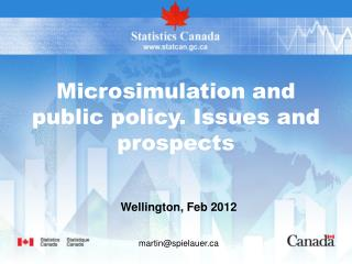 Microsimulation and  public policy. Issues and prospects
