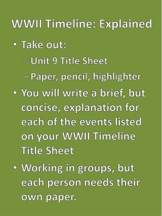 WWII Timeline: Explained