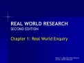 REAL WORLD RESEARCH SECOND EDITION