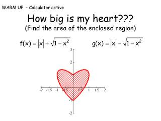 How big is my heart??? (Find the area of the enclosed region)