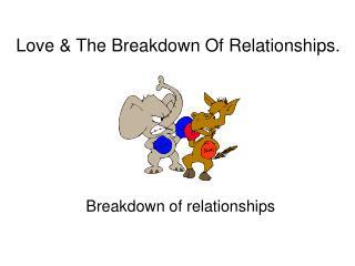 Love  The Breakdown Of Relationships.