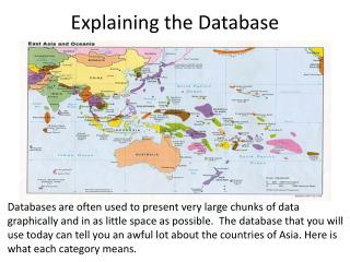 Explaining the Database