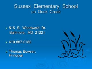 Sussex  Elementary  School on  Duck  Creek