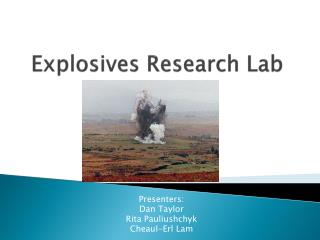 Explosives Research Lab