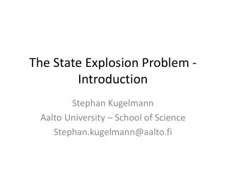 The State Explosion Problem -  Introduction