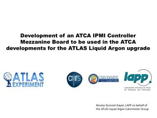 Nicolas Dumont Dayot, LAPP on behalf of the ATLAS Liquid Argon Calorimeter Group