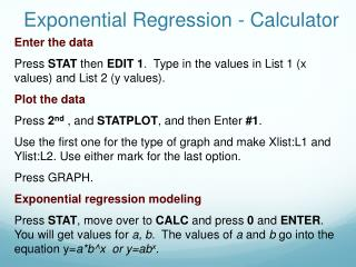 Exponential Regression - Calculator