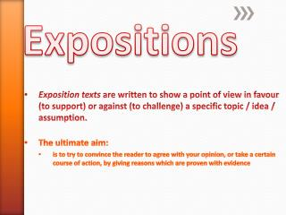 Expositions