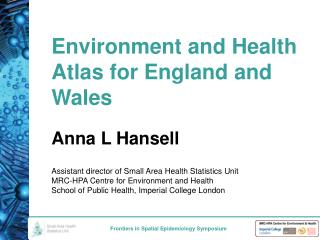 Environment and Health Atlas for England and Wales