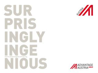ADVANTAGE AUSTRIA Austria's Internationalisation  Agency