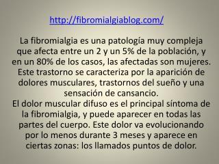 fibromialgia, un trastorno