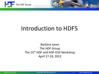 Introduction to HDF5