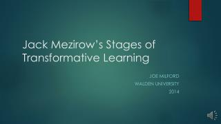 Jack Mezirow's Stages of Transformative Learning
