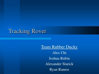 Tracking Rover