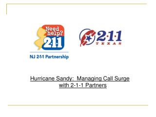 Hurricane Sandy:  Managing Call Surge with 2-1-1 Partners