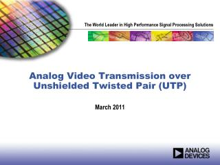 Analog Video Transmission over Unshielded Twisted Pair (UTP)