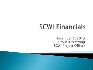 SCWI Financials