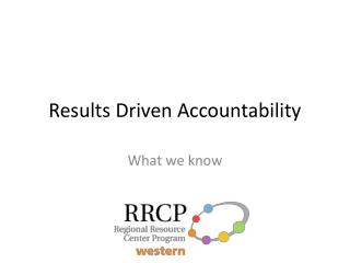 Results Driven Accountability