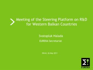 Meeting of the Steering Platform on R&D for Western Balkan Countries