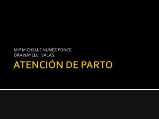 ATENCIÓN  DE PARTO