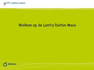 Welkom op de  Lentiz  Dalton Mavo