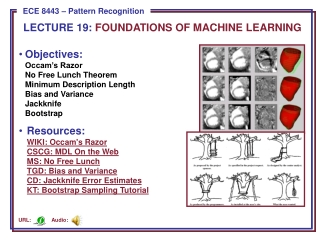 Chapter 9:  Algorithm-Independent  Machine Learning Sections 1-3
