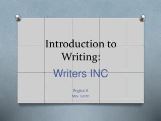 Introduction to Writing: