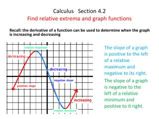 Calculus   Section 4.2 Find relative  extrema  and graph functions