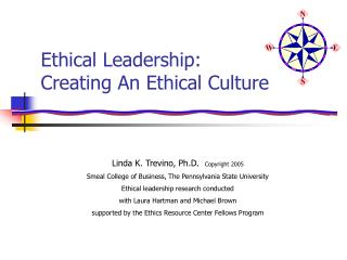 Ethical Leadership:  Creating An Ethical Culture