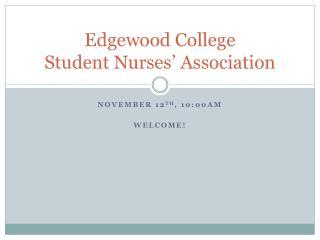 Edgewood College Student Nurses' Association