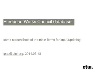 European  Works Council  database