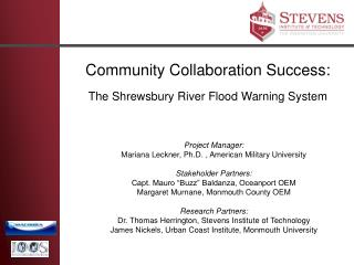 Community Collaboration Success: The Shrewsbury River Flood Warning System