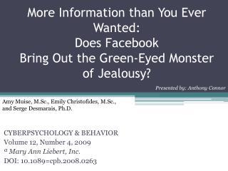 CYBERPSYCHOLOGY & BEHAVIOR Volume 12, Number 4, 2009 � Mary Ann  Liebert , Inc.