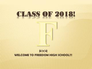 CLASS OF 2018!