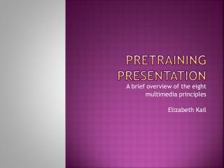 Pretraining  presentation