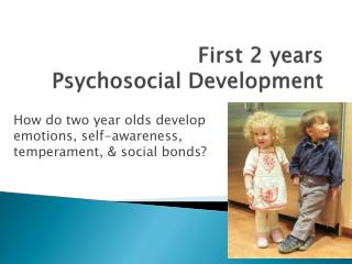 First 2 years                      Psychosocial Development