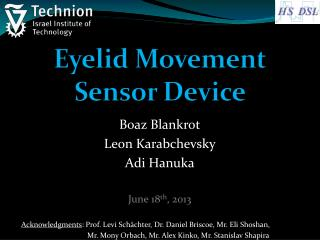 Eyelid Movement Sensor Device