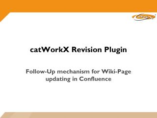 catWorkX Revision  Plugin