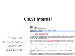 CREST Internal