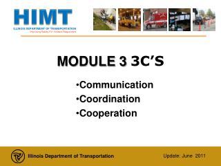 MODULE 3  3C'S