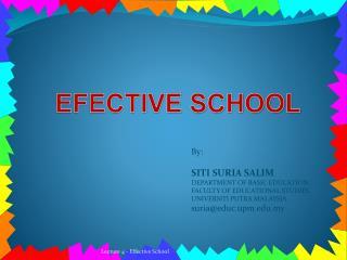 EFECTIVE SCHOOL