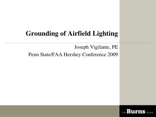 Grounding of Airfield Lighting