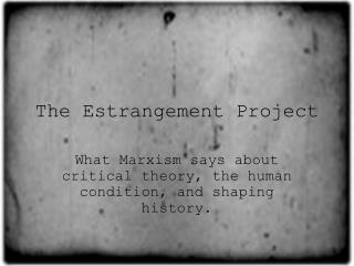 The Estrangement Project