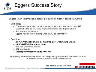 Eggers Success Story