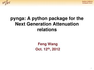 pynga : A python package for the Next Generation Attenuation relations